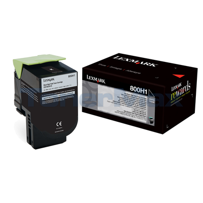 LEXMARK CX410 TONER CARTRIDGE BLACK 4K